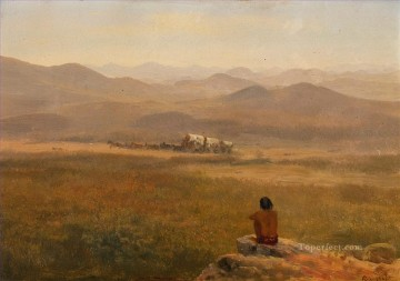 American Indians Painting - THE LOOKOUT American Albert Bierstadt western Indians