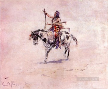 peace 1899 Charles Marion Russell American Indians Oil Paintings