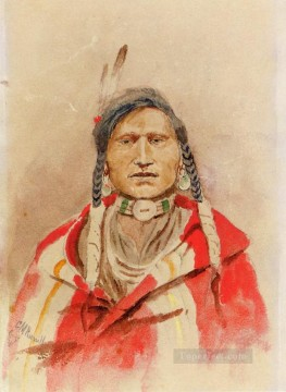 American Indians Painting - portrait of an indian Charles Marion Russell American Indians