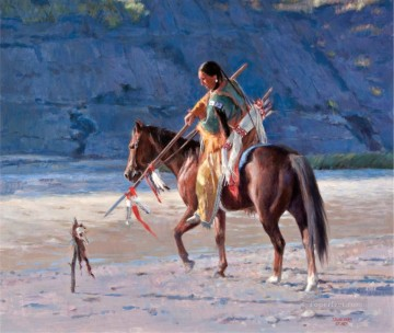 western American Indians 50 Oil Paintings