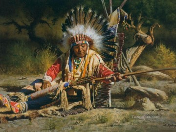 western American Indians 65 Oil Paintings
