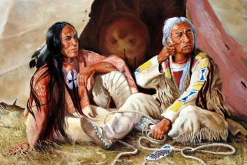 western American Indians 72 Oil Paintings