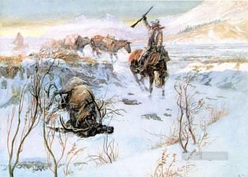 American Indians Painting - christmas dinner for the men on the trail 1905 Charles Marion Russell American Indians