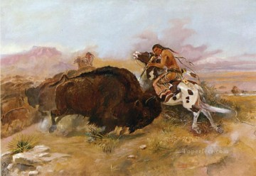 American Indians Painting - meat for the tribe 1891 Charles Marion Russell American Indians