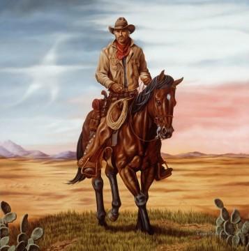 west america cowboy west America Oil Paintings
