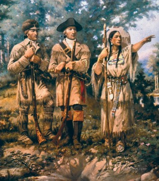 western American Indians 17 Oil Paintings