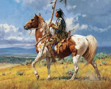 western American Indians 21 Oil Paintings