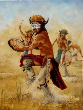 western American Indians 68 Oil Paintings