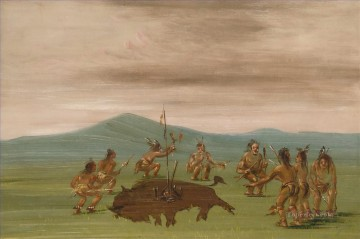 Catlin Medicine Buffalo west America Oil Paintings