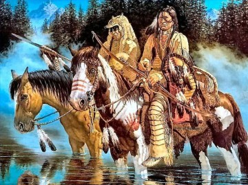 Indians Native American Indians Oil Paintings
