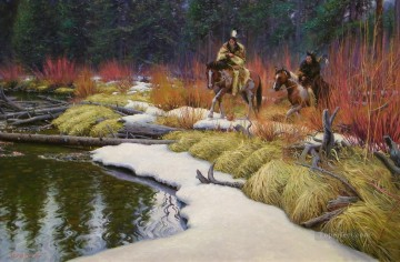 American Indians Painting - Keathley AmongtheRedWillows west America