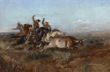 Russell Charles M 1864 1926 Unbranded ca 1897 west America Oil Paintings