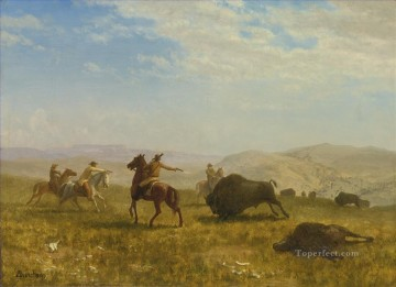 THE WILD WEST American Albert Bierstadt western cowboy Oil Paintings