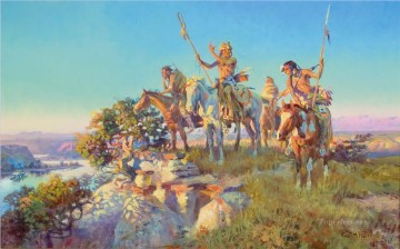 American Indians Painting - west america indiana 60