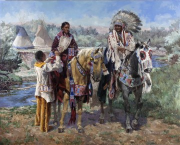 western American Indians 01 Oil Paintings