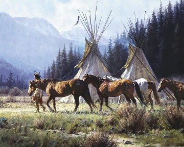 western American Indians 23 Oil Paintings