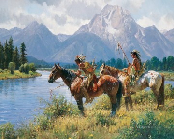 western American Indians 24 Oil Paintings