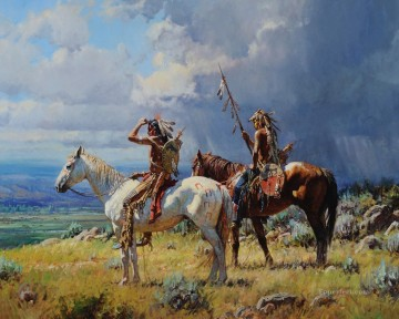 western American Indians 30 Oil Paintings