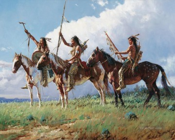 western American Indians 31 Oil Paintings