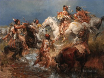 western American Indians 32 Oil Paintings