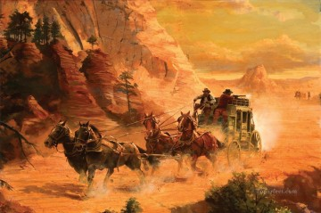 Carson Danger Road west America Oil Paintings