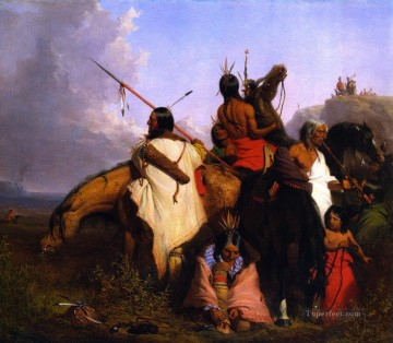 Charles Deas xx Indian Group Oil Paintings