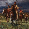 WAR PARTY RIDES LAKOTA west America