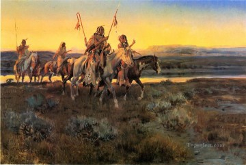 piegans 1918 Charles Marion Russell American Indians Oil Paintings