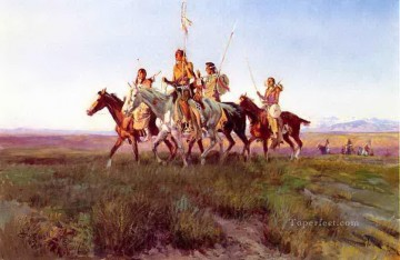 American Indians Painting - return of the war party 1914 Charles Marion Russell American Indians