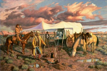 American Indians Painting - sunrise west America
