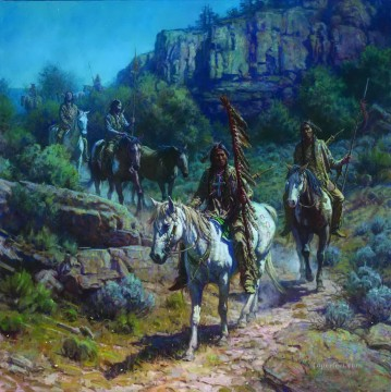 western American Indians 08 Oil Paintings