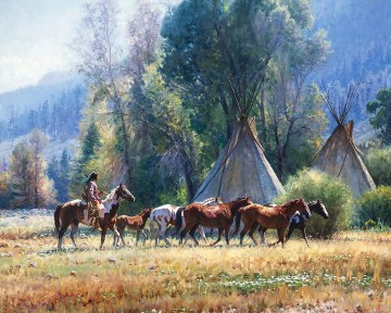 western American Indians 20 Oil Paintings