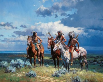 western American Indians 22 Oil Paintings