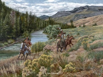 western American Indians 76 Oil Paintings