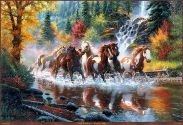 western American Indians born to run Oil Paintings