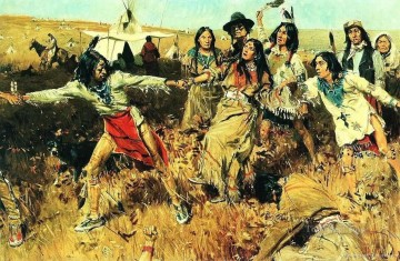 painting Oil Painting - Native American Indian Painting 10