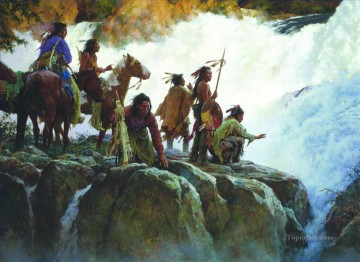 American Indians Painting - The Force Of Nature Humbles All Men