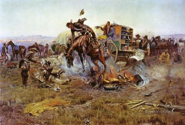 camp cooks troubles 1912 west America Oil Paintings