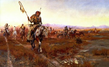 the medicine man no 2 1908 Charles Marion Russell American Indians Oil Paintings