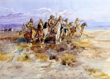western American Indians 35 Oil Paintings