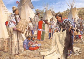 western American Indians 52 Oil Paintings