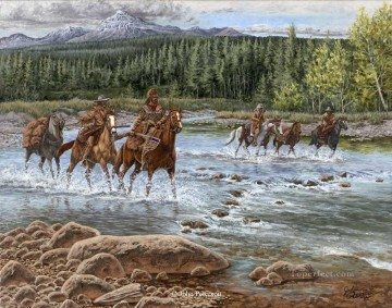 western American Indians 74 Oil Paintings