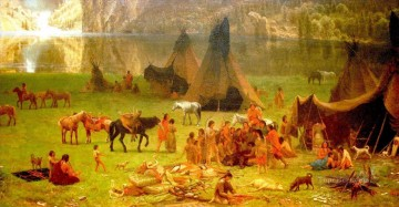 American Indians Painting - Overview lower right 2 west America