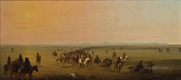 miller caravan en route west America Oil Paintings