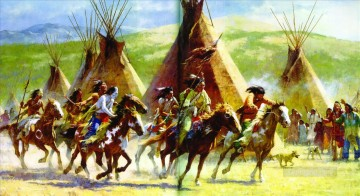 Artworks in 150 Subjects Painting - western American Indians 219