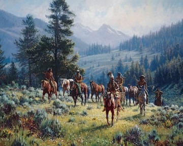 western American Indians 26 Oil Paintings