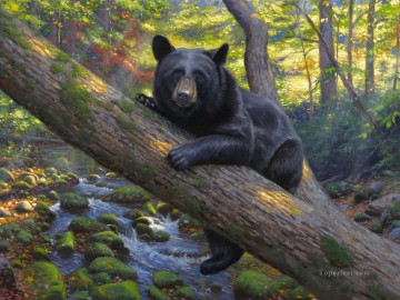 Lazy Boy bear Oil Paintings