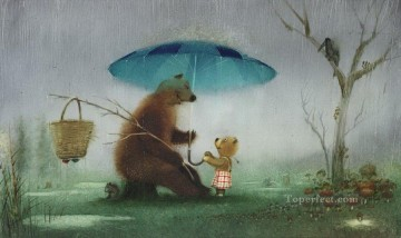 Tales Oil Painting - fairy tales bears