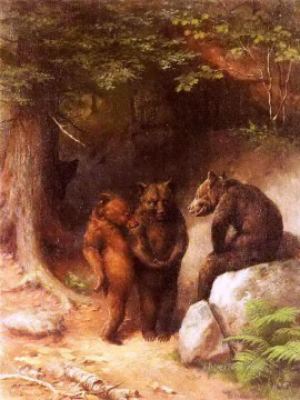 Animal Painting - Bear so you want to get married eh