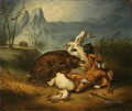 Indian Bear Fight anonymous painter